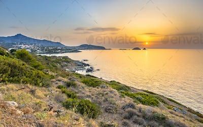 Golden sunset over Ile Rousse