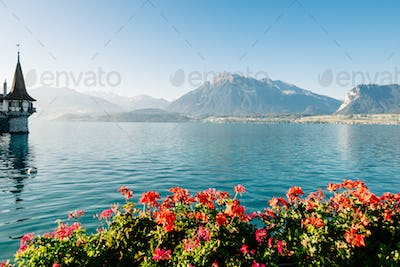 Lake and mountains landscape in Europe