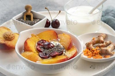 Turmeric and yogurt bowl