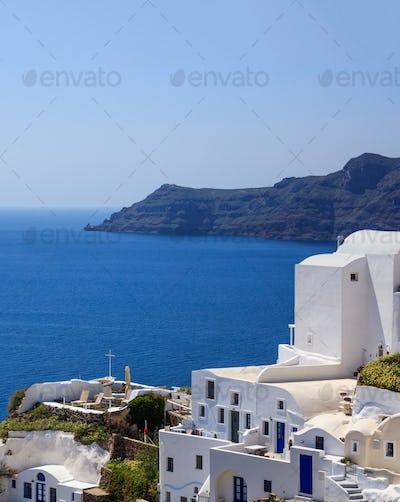 Santorini island, Greece - Caldera over Aegean sea