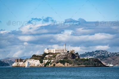 View on Alcatraz Island from pier 39