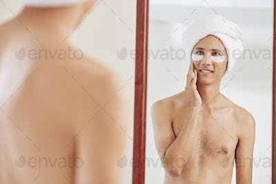 Mans beauty routine