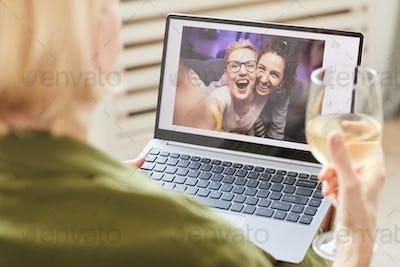 Friends talking online