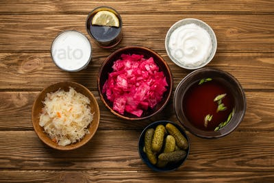 Assorted fermented foods