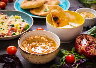 middle eastern traditional vegetarian dishes