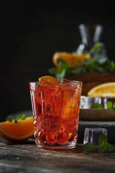 Traditional italian aperitif Aperol