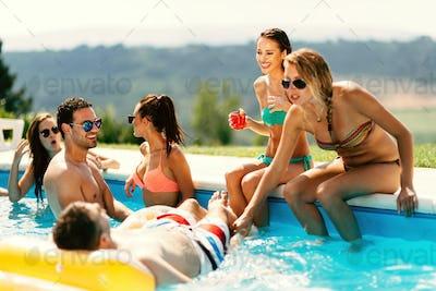Friends enjoying vacation