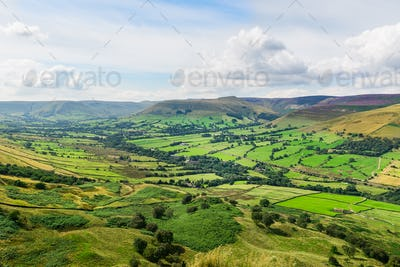 Mam Tor hill near Castleton and Edale in the Peak District Park