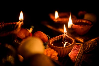 Diwali Diya with Gifts