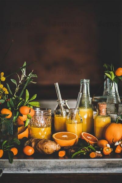 Vitamin vegan immune boosting health defending drink, copy space