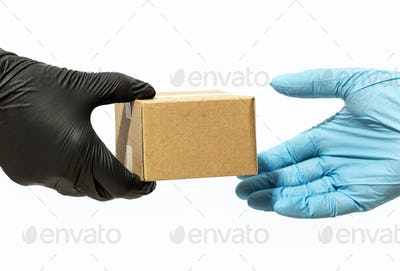 Home delivery during Coronavirus COVID-19 pandemic concept