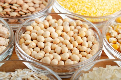 Soy beans closeup