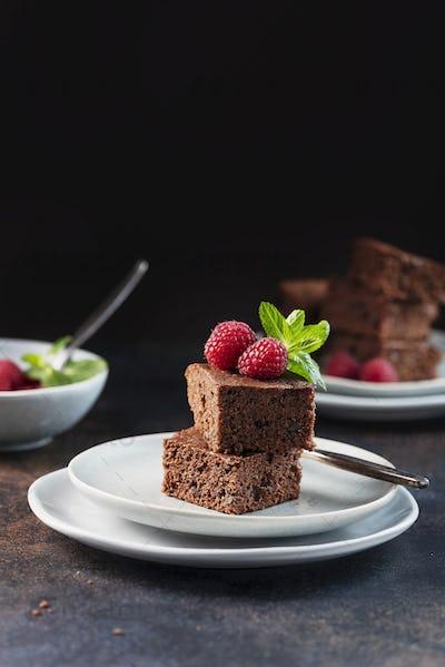 Chocolate cake with caramel
