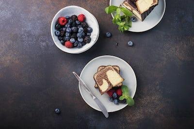 Sweet marble plumcake