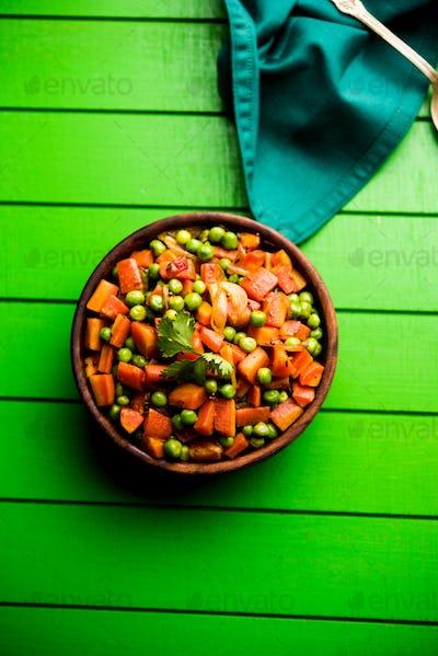 Carrot Green Peas Sabzi