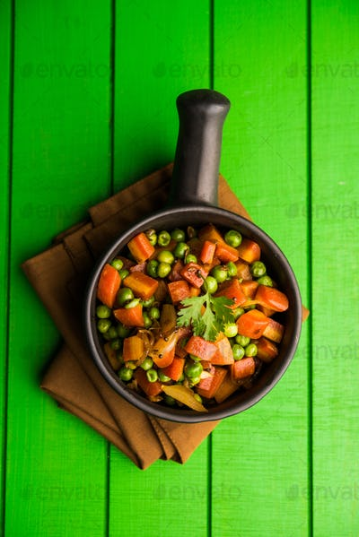 Carrot Green Peas Sabzi