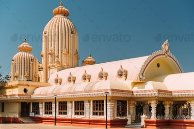Mapusa, Goa, India. The Shree Ganesh Mandir, Ganeshpuri Temple. Famous Landmark And Popular