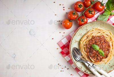 Pasta bolognese background