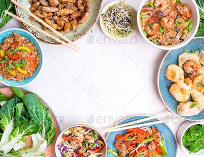 Chinese food white background