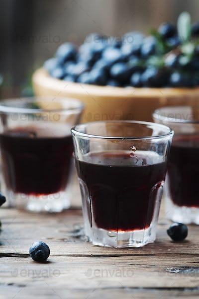 Traditional sardinian liqueur with mirto