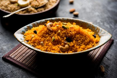 Almond Saffron Halwa