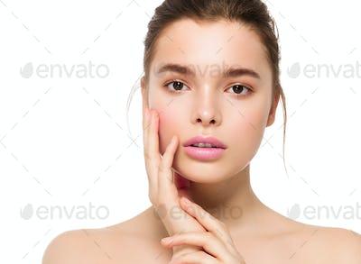 Fashion natural make up woman clean skin beauty portrait