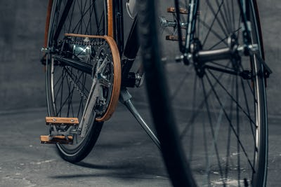 An authentic vintage single speed bicycle