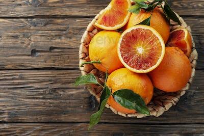 Sweet red oranges of Sicily