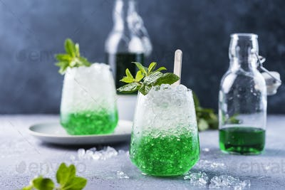 Summer cocktail with mint