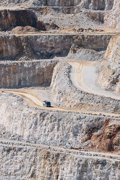 Industrial stone mining
