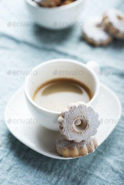 Italian traditional cookies canestrelli