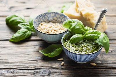 Typical Italian pesto