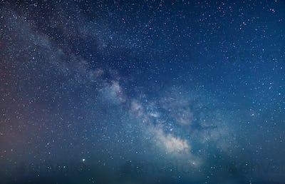 Milky Way in night sky.