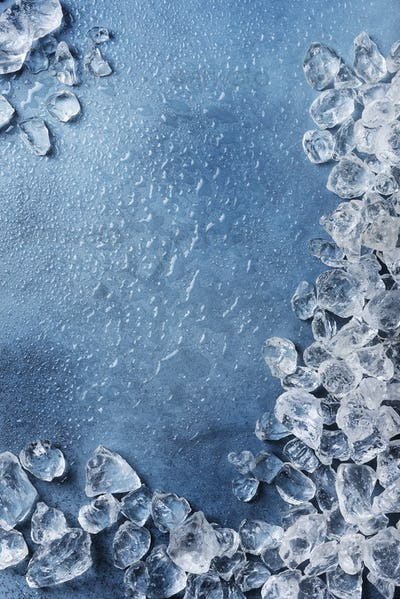 Different crystals of ice
