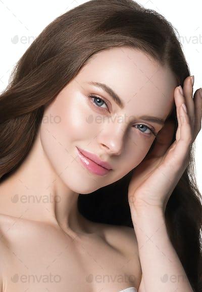 Healthy clean skin natural make woman beauty