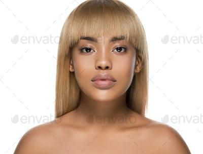 Woman beauty afro american female beautiful skincare face