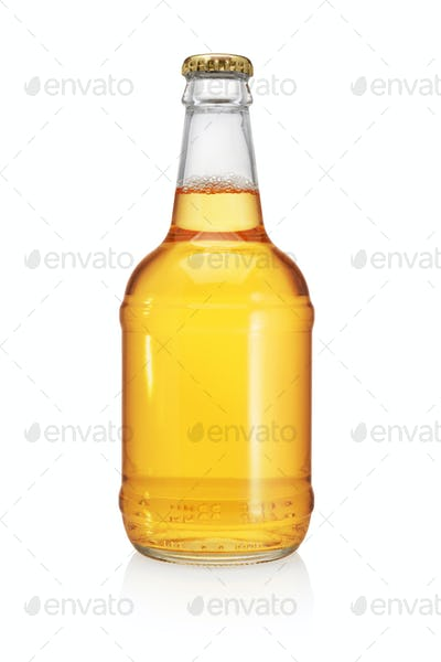 Beer bottle isolated on white background.