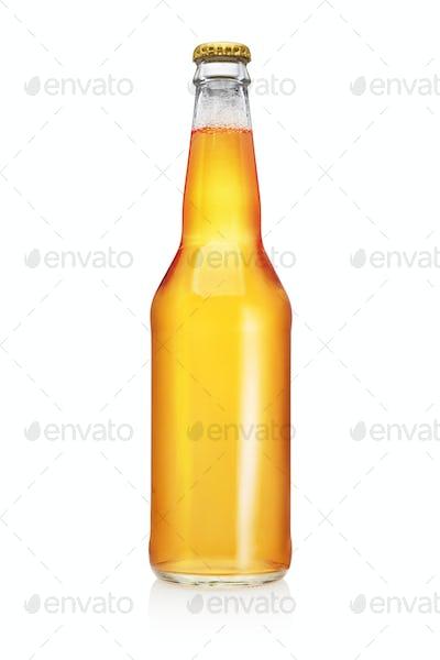 Longneck Beer bottle isolated on white background.