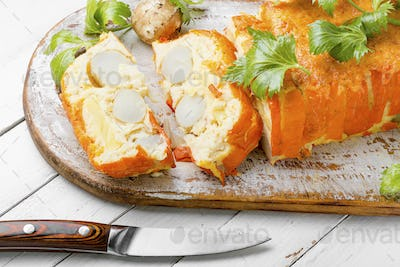 Appetizing vegetable terrine
