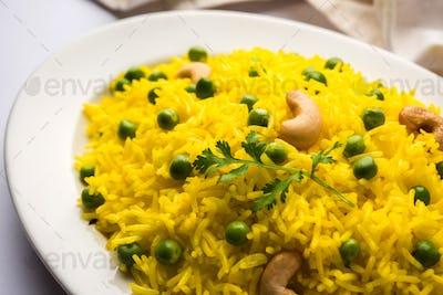 Green Peas Yellow Pulao