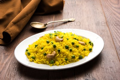 Green Peas Yellow Pulao