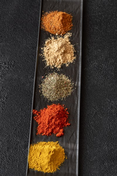 Different kinds of spices