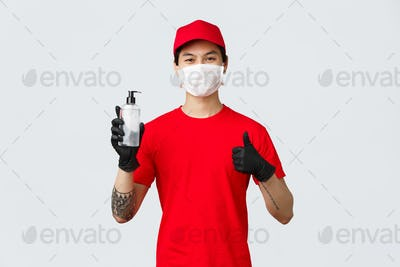 Carrier provide delivery workers with hand sanitisers, medical masks and gloves to protect from