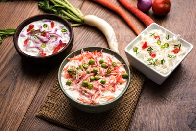 Onion, Carrot & Radish Raita