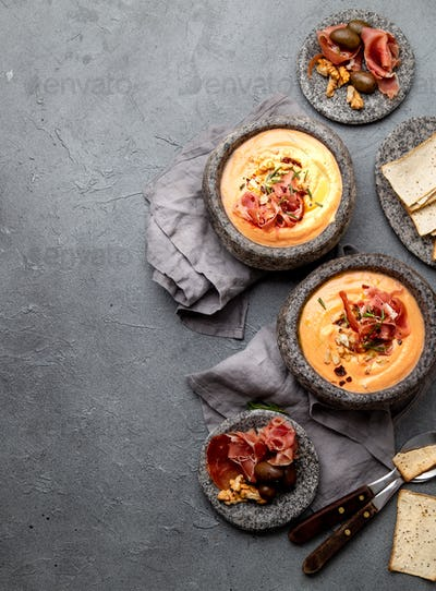 salmorejo cordobes - traditional andalusian tomato soup
