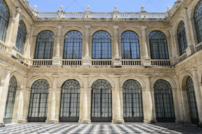 Courtyard of the General Archive of the Indies, Sevilla. A renaissance architectural site, a market