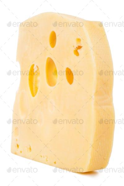 Cheese blocks isolated on white background