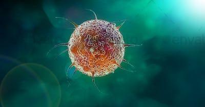 virus cell 3d illustration