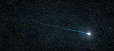 shooting star in the starry sky