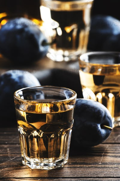 Slivovica - plum brandy or plum vodka